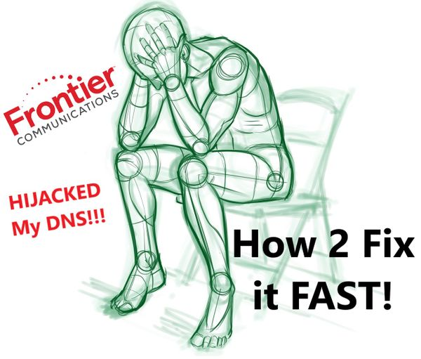 How do I prevent Frontier from hijacking my DNS requests?
